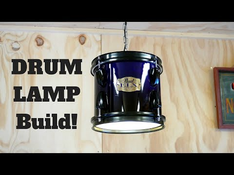 Making a DRUM-LAMP! (With my Brother!)