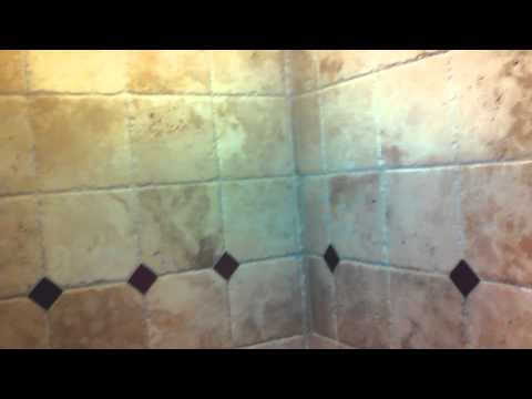 Travertine shower cleaning & sealing Tampa FL