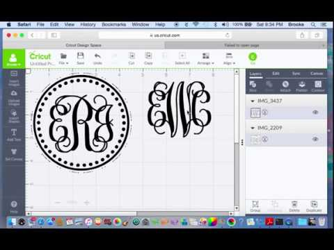 How to make a monogram with Cricut