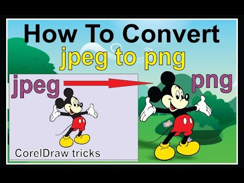 How To Convert Jpg To Png Using Corel Draw X7
