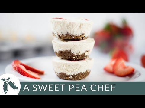 Mini No Bake Cheesecake Recipe (That You'd Never Know Was Vegan!) | A Sweet Pea Chef