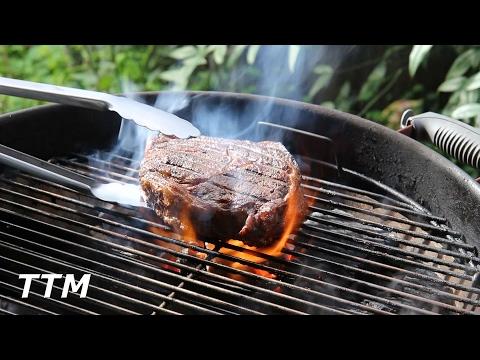 Reverse Seared Boneless Ribeye Steak~Weber Kettle~Slow 'N Sear Plus