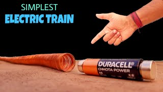 World's Simplest Electric Train - How To Make || Simple Science Project