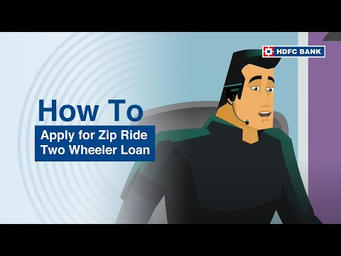 Buying your two-wheeler/bike? HDFC Bank Zip Ride Two-Wheeler loans. HDFC Bank, India's no. 1 bank*