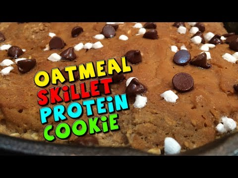 Oatmeal Skillet PROTEIN Cookie Recipe (High Fiber)
