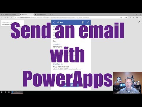 PowerApps send email with a button