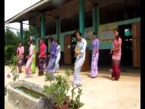 Burmese Dance Rehearsal at La Salle Sangklaburi