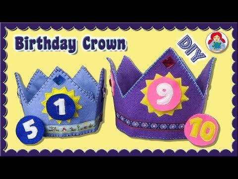 DIY | Adjustable Birthday Crown • Sami Dolls Tutorials