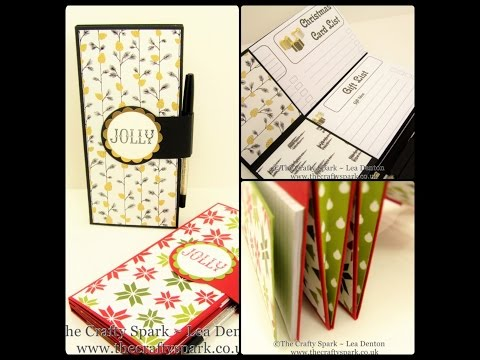 The Ultimate Christmas Organiser Wallet Stampin Up UK - part 1 of 2