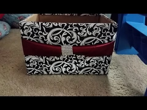 DIY: how to make storage box from diaper box organize/decorate room closet