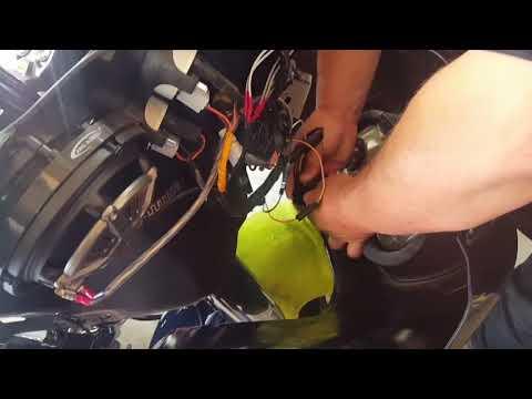 Adding additional hidden antenna on Adam's Harley