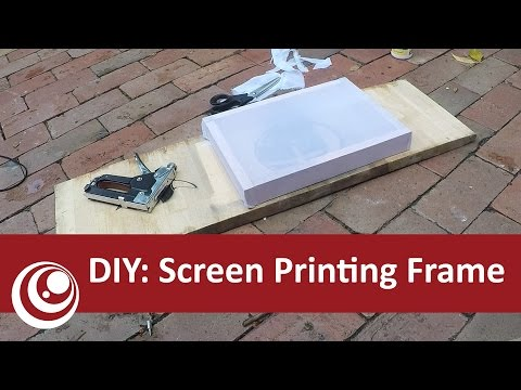 DIY - Screen Printing Frame, Simple and Easy!