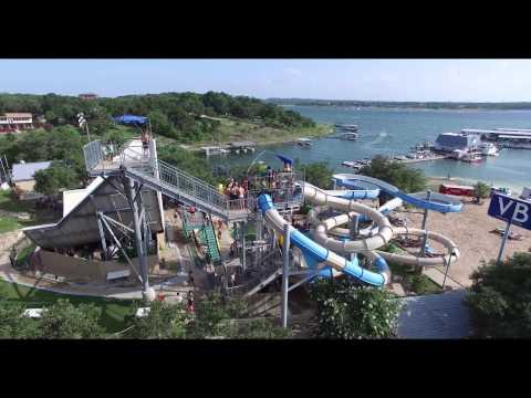 Lake Travis Volente Beach Water Park 4k Video