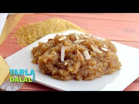 Lapsi, Fada ni Lapsi, Gujarati Broken Wheat Dessert Recipe by Tarla Dalal