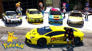 GTA 5 - Stealing POKEMON Vehicles with Franklin! (Real Life Cars #103)