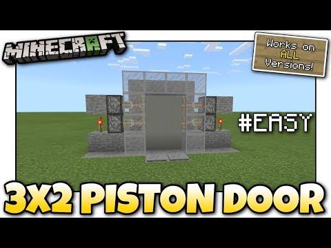 Minecraft - 3x2 PISTON DOOR #EASY [ Redstone Tutorial ] Works on ALL Versions !