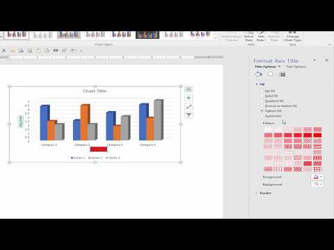 How to Add Vertical and Horizontal Axis Title of Chart in Microsoft Word Document 2017