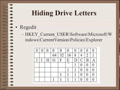 Hiding Drive Letters