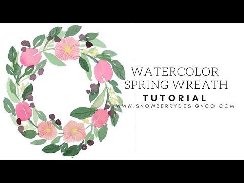 Spring Wreath Watercolor Tutorial