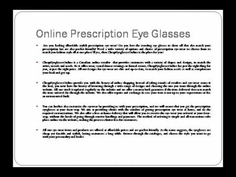 Prescription Eye Glasses Online