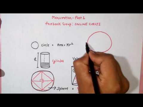 Mensuration Part 1( SSC CGL | BANK PO | CAT| CDS | MAT| XAT| SNAP ETC)