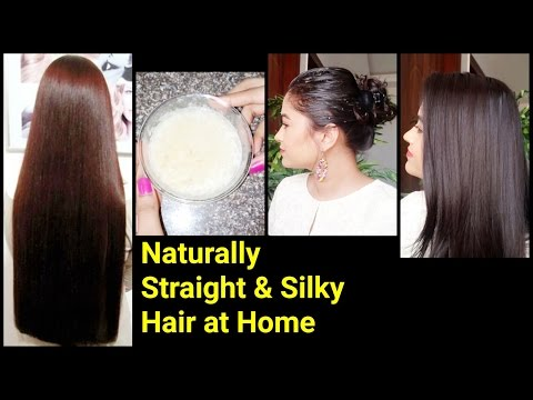 Magical Home Remedy to get Naturally Straight & Silky hair//Best ways to get rid of dry frizzy hair