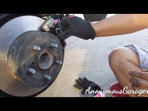 How to change rear brakes on a 2009 Toyota camry!