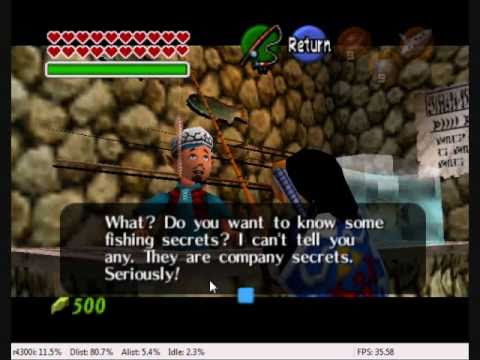 The Legend of Zelda Ocarina of Time Catching the Hylian Loach