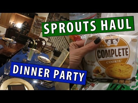 Sprouts Grocery Haul, Dinner Party, Decor & Eating out!|Countdown to Birthday Vlog #3|#ShanaEmily