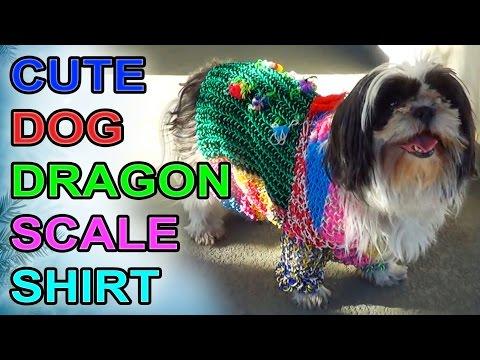 Cute Dog DRAGON SCALE Shirt - Rainbow Loom
