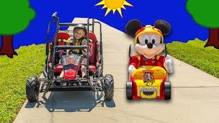 ASSISTANT Disney Mickey and the Roadster Racers Go Cart Racing Video