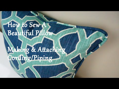 How to Sew a Pillow: Making & Attaching Cording/Piping