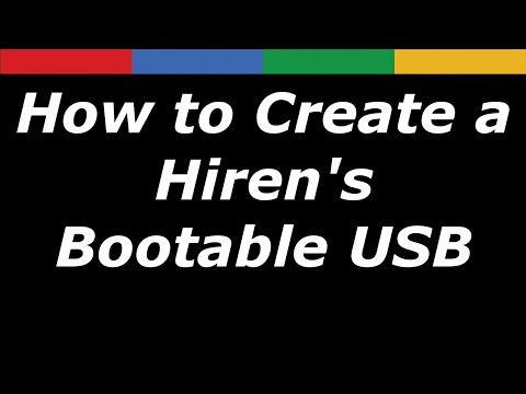 How to Create a Hiren's Bootable USB Step by Step