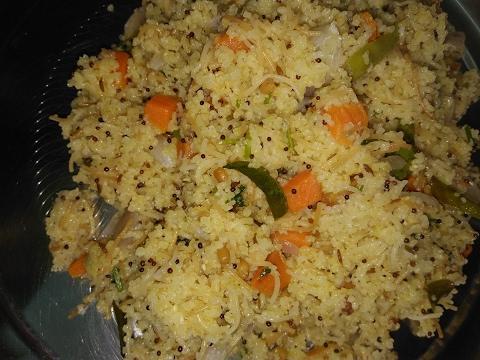 How to Make Godhuma Rava Semiya Upma / Wheat Rava Upma Recipe Preparation in Telugu