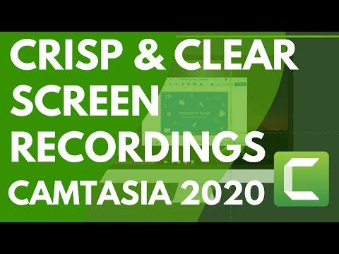 Camtasia 9/3: Getting Crisp, Clear Screen Video