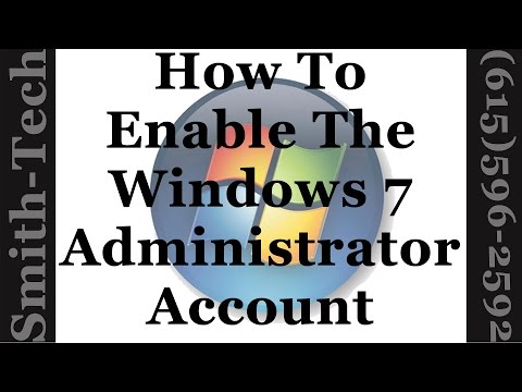 How To Enable or Disable The Windows 7 Administrator Account
