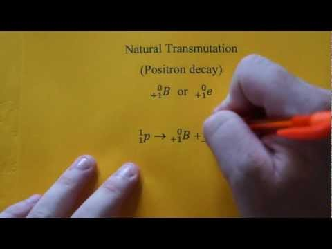 Writing Positron Decay Nuclear Equations