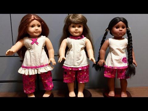 DIY American Girl Doll Summer Pajamas