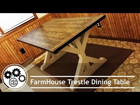 DIY Building Farmhouse Table