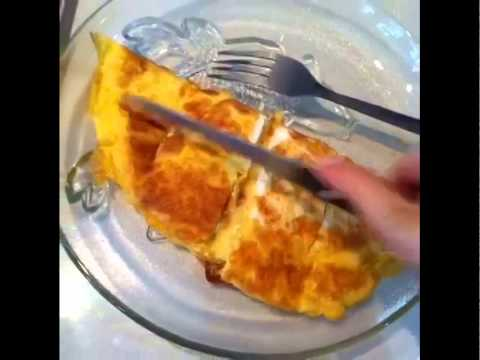 Egg Omelette with Mozzarella Cheese