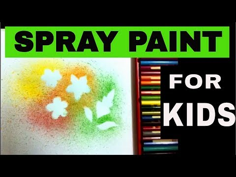 SPRAY PAINTING ART FOR BEGINNERS, KIDS. ( Drawing and Coloring Pages for Kids ) #04.