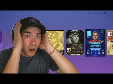OMG! INSANE PACK OPENING! HUNT FOR FLASHBACK ZETTERBERG | NHL 18 HUT PACK OPENING