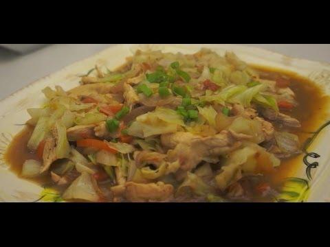 Paano magluto Ginisang Repolyo Manok Recipe Pinoy Cabbage Chicken Filipino Tagalog
