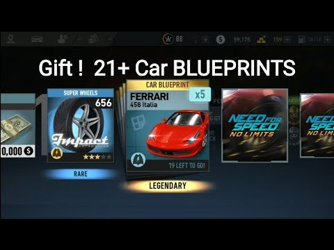 NFS 21+ Car Blueprints - Rare Parts - Engines - Dollars Cash Gifts !