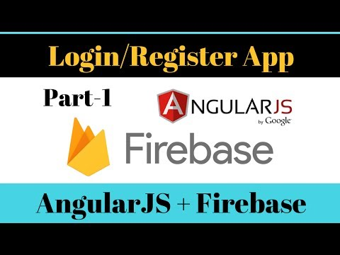 Login Web App [ Part-1 ]: Simple login/register web app with AngularJS and Firebase