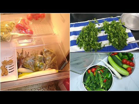 How to clean and store vegetables in fridge | Store chillies & coriander