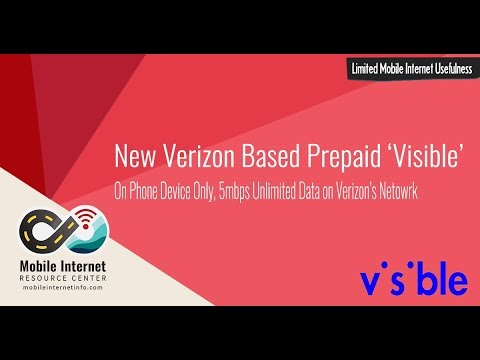Visible: New $40/month Unlimited On Device Verizon Based Phone Plan (No Mobile Hotspot)