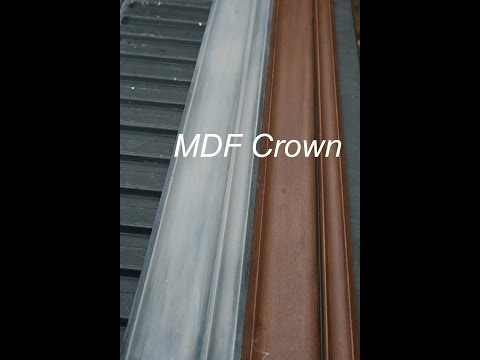 Staining Your MDF CROWN  (REAL WOOD LOOK)
