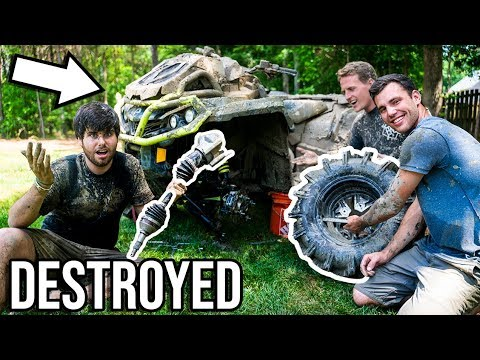 DESTROYING MY NEW CAN-AM! Over $1000 in DAMAGE!