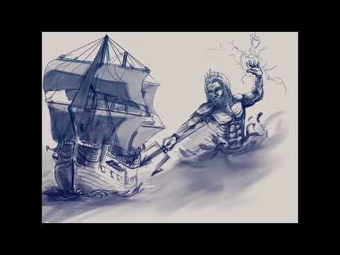 Poseidon tattoo design time lapse